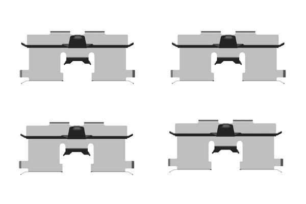 Kit de montage plaquettes de frein BOSCH 1 987 474 438 (X1)