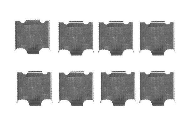 Kit de montage plaquettes de frein BOSCH 1 987 474 453 (X1)
