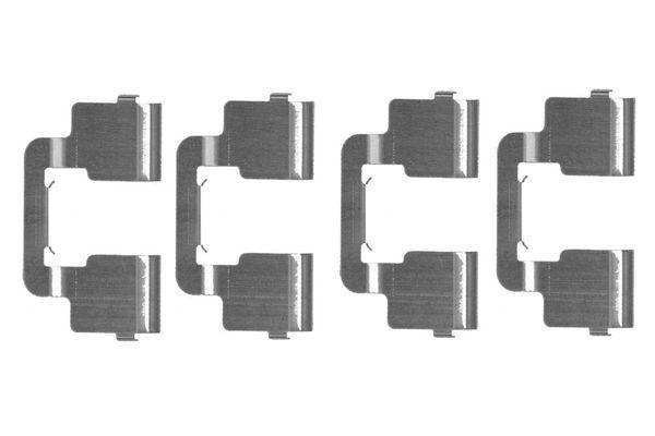 Kit de montage plaquettes de frein BOSCH 1 987 474 458 (X1)