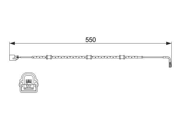 Temoin d'usure de frein BOSCH 1 987 474 514 (X1)