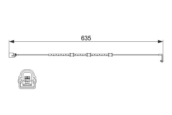Temoin d'usure de frein BOSCH 1 987 474 515 (X1)
