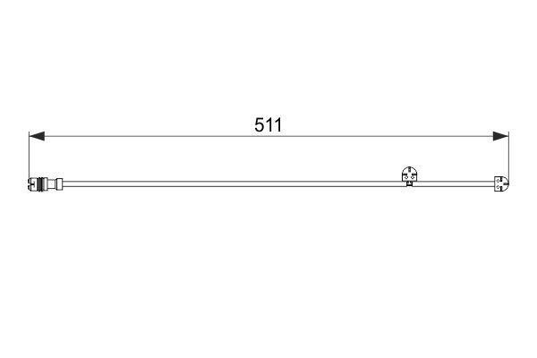 Temoin d'usure de frein BOSCH 1 987 474 557 (X1)
