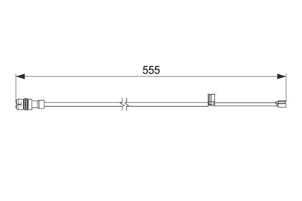 Temoin d'usure de frein BOSCH 1 987 474 568 (X1)