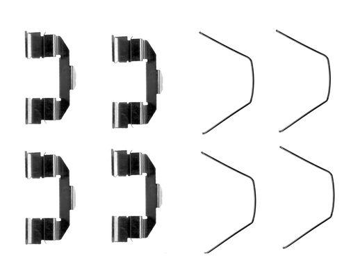 Kit de montage plaquettes de frein BOSCH 1 987 474 647 (X1)
