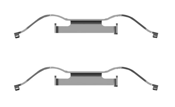 Kit de montage plaquettes de frein BOSCH 1 987 474 687 (X1)