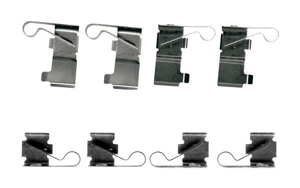 Kit de montage plaquettes de frein BOSCH 1 987 474 697 (X1)