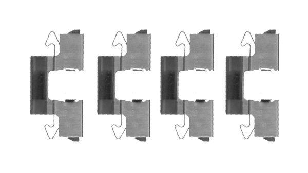 Kit de montage plaquettes de frein BOSCH 1 987 474 705 (X1)