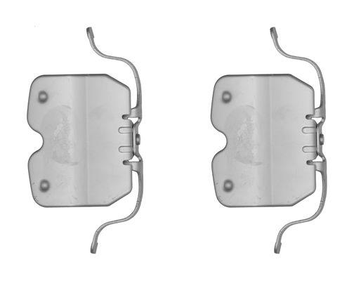 Kit de montage plaquettes de frein BOSCH 1 987 474 725 (X1)
