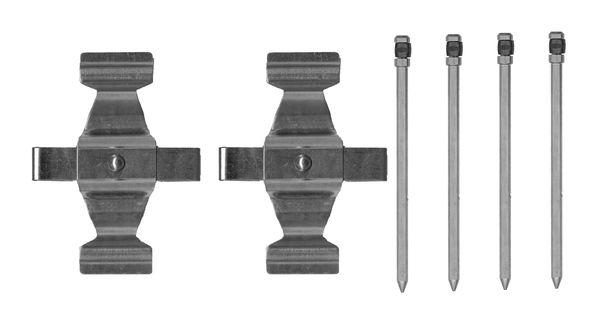 Kit de montage plaquettes de frein BOSCH 1 987 474 743 (X1)