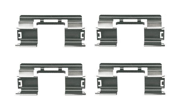 Kit de montage plaquettes de frein BOSCH 1 987 474 746 (X1)