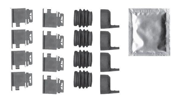 Kit de montage plaquettes de frein BOSCH 1 987 474 750 (X1)