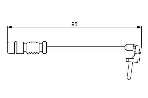 Temoin d'usure de frein BOSCH 1 987 474 901 (X1)