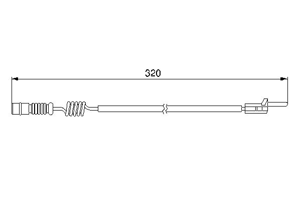 Temoin d'usure de frein BOSCH 1 987 474 964 (X1)