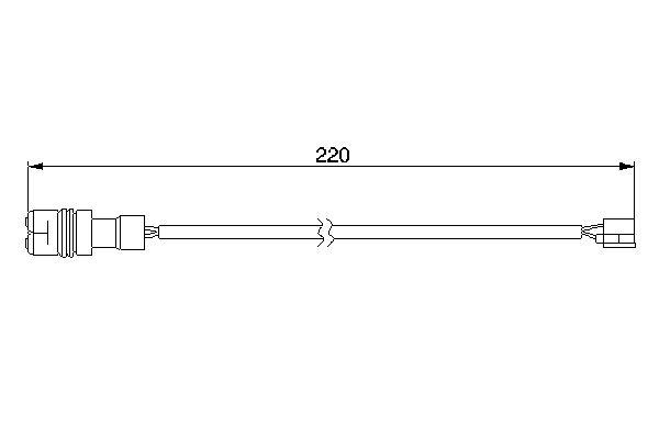Temoin d'usure de frein BOSCH 1 987 474 981 (X1)