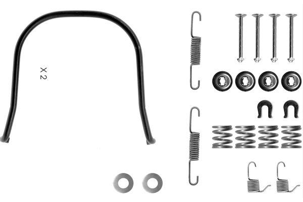 Kit de montage machoires de frein BOSCH 1 987 475 185 (X1)