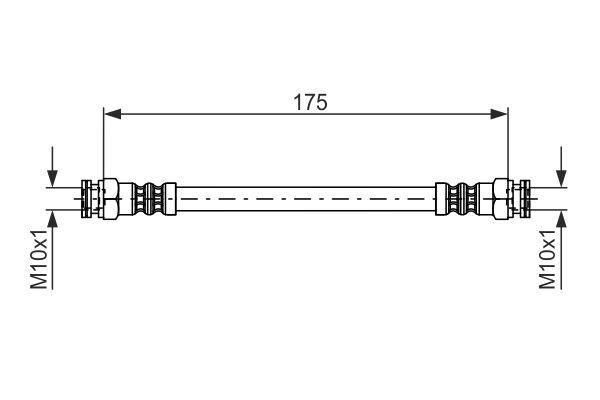 Flexible de frein BOSCH 1 987 476 012 (X1)