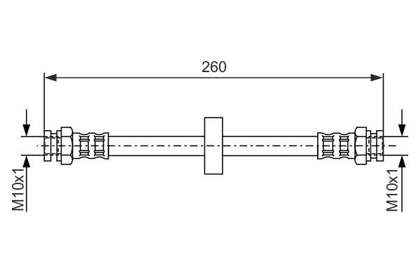 Flexible de frein BOSCH 1 987 476 092 (X1)