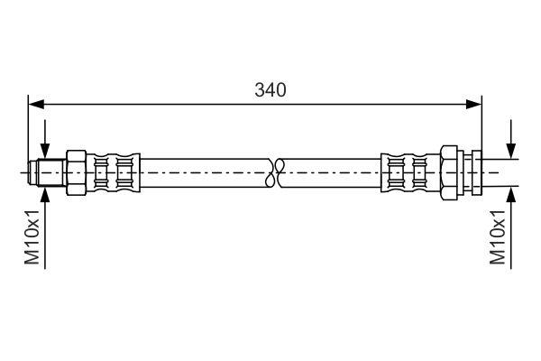 Flexible de frein BOSCH 1 987 476 121 (X1)