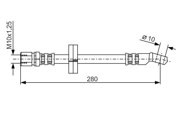 Flexible de frein BOSCH 1 987 476 239 (X1)