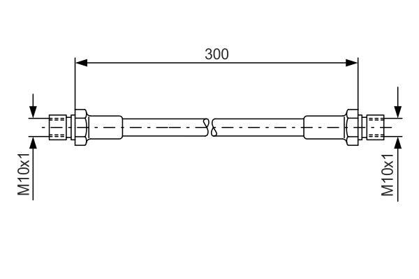 Flexible de frein BOSCH 1 987 476 286 (X1)