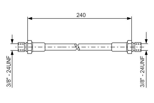 Flexible de frein BOSCH 1 987 476 288 (X1)