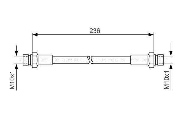 Flexible de frein BOSCH 1 987 476 289 (X1)