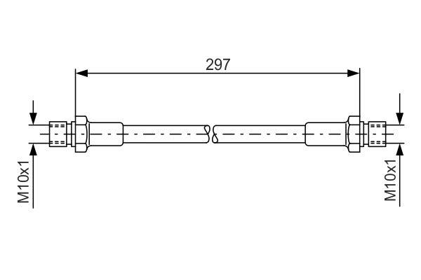 Flexible de frein BOSCH 1 987 476 290 (X1)