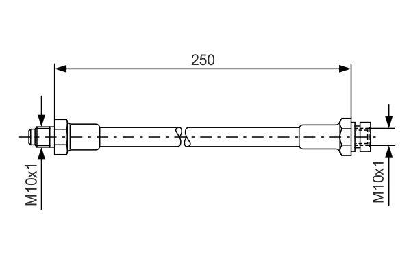 Flexible de frein BOSCH 1 987 476 348 (X1)