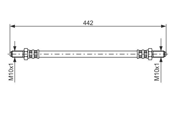 Flexible de frein BOSCH 1 987 476 469 (X1)