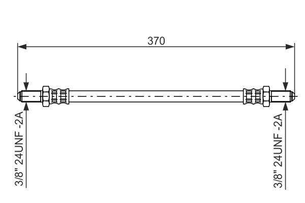 Flexible de frein BOSCH 1 987 476 475 (X1)