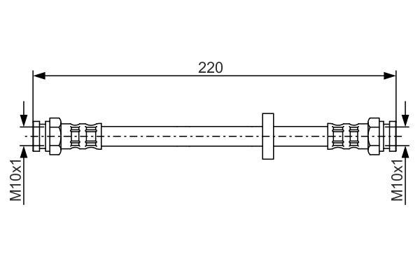 Flexible de frein BOSCH 1 987 476 633 (X1)