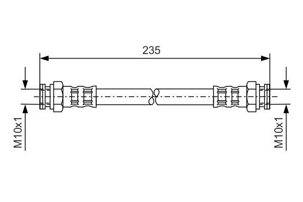 Flexible de frein BOSCH 1 987 476 647 (X1)