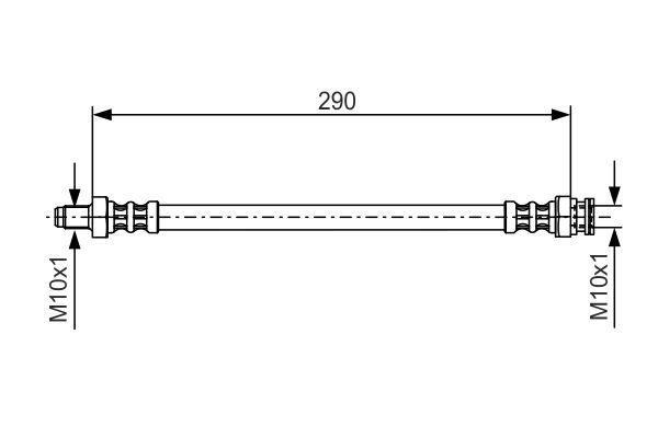 Flexible de frein BOSCH 1 987 476 688 (X1)