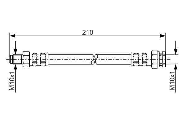 Flexible de frein BOSCH 1 987 476 877 (X1)