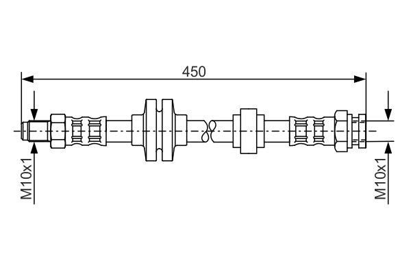 Flexible de frein BOSCH 1 987 476 880 (X1)