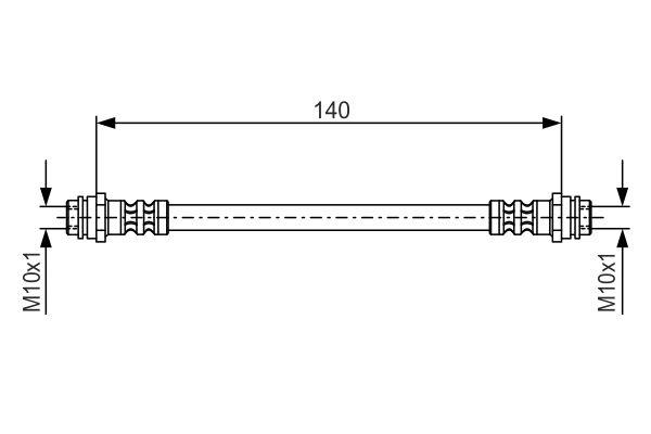 Flexible de frein BOSCH 1 987 476 952 (X1)