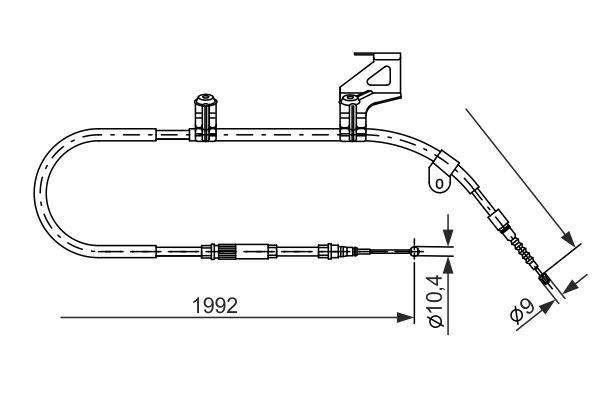 Cable de frein à main BOSCH 1 987 477 242 (X1)
