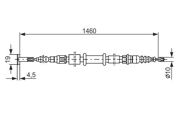 Cable de frein à main BOSCH 1 987 477 375 (X1)