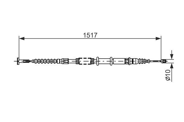 Cable de frein à main BOSCH 1 987 477 382 (X1)