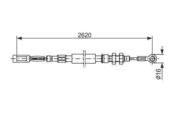 Cable de frein à main BOSCH 1 987 477 421 (X1)