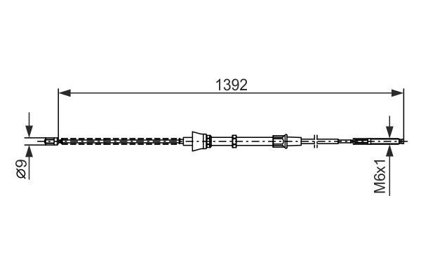 Cable de frein à main BOSCH 1 987 477 680 (X1)