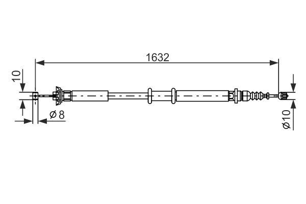 Cable de frein à main BOSCH 1 987 477 722 (X1)