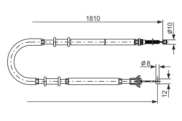 Cable de frein à main BOSCH 1 987 477 723 (X1)