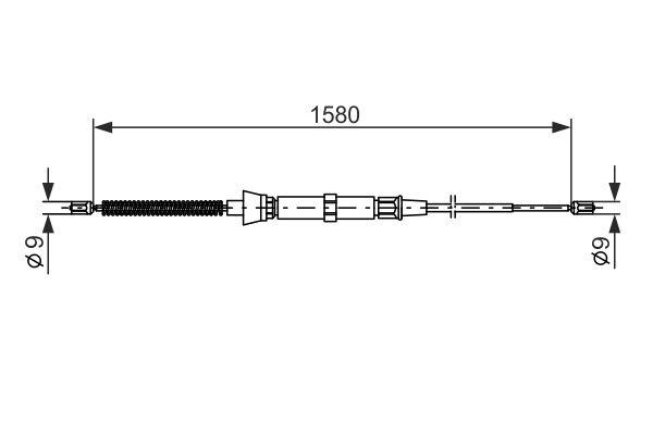 Cable de frein à main BOSCH 1 987 477 806 (X1)