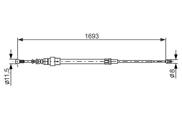 Cable de frein à main BOSCH 1 987 477 817 (X1)