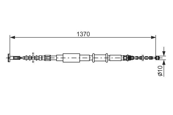 Cable de frein à main BOSCH 1 987 477 827 (X1)