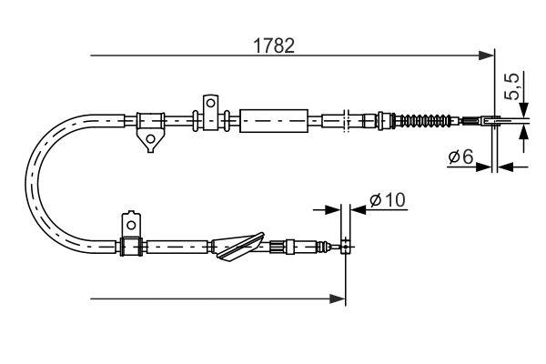 Cable de frein à main BOSCH 1 987 477 889 (X1)