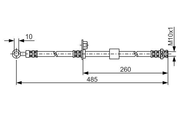 Flexible de frein BOSCH 1 987 481 054 (X1)