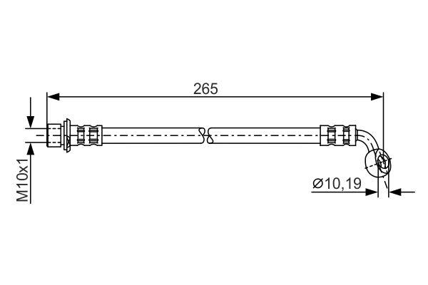 Flexible de frein BOSCH 1 987 481 127 (X1)