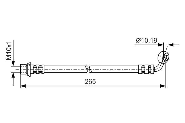 Flexible de frein BOSCH 1 987 481 128 (X1)